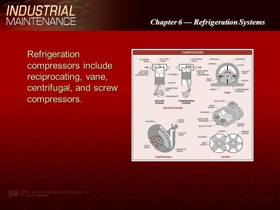 Chapter 6 Refrigeration Systems Refrigerant vapor pressure charts list the saturation temperature and pressure of refrigerants.