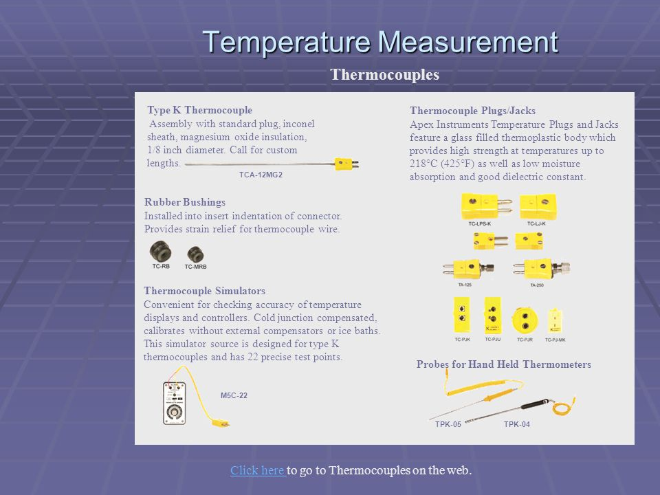 Temperature Measurement Thermocouples TPK-05 TPK-04 Probes for Hand Held Thermometers TCA-12MG2 Type K Thermocouple Assembly with standard plug, incon