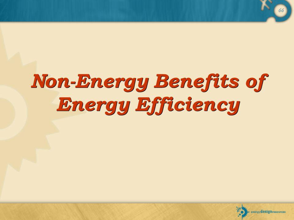 66 Non-Energy Benefits of Energy Efficiency