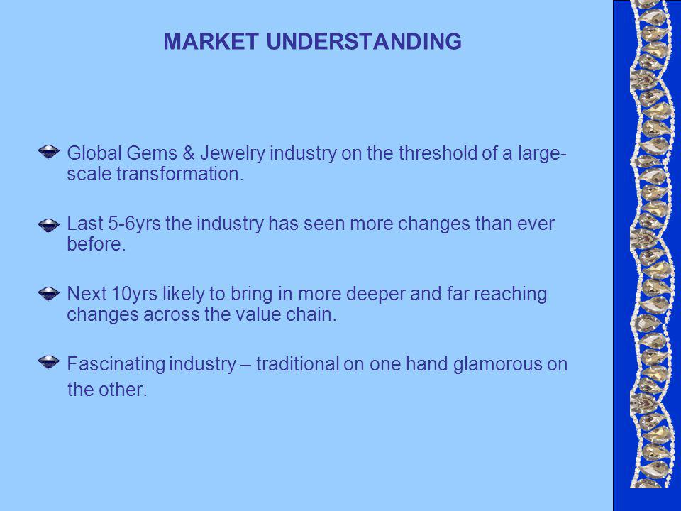 MARKET UNDERSTANDING Global Gems & Jewelry industry on the threshold of a large- scale transformation.