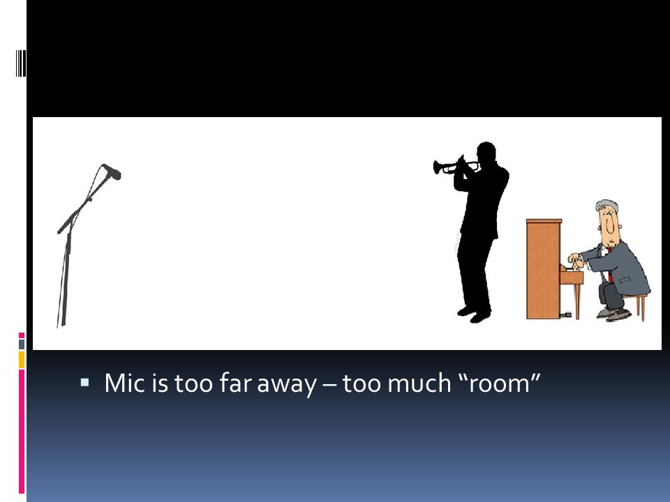 Mic is too far away – too much room