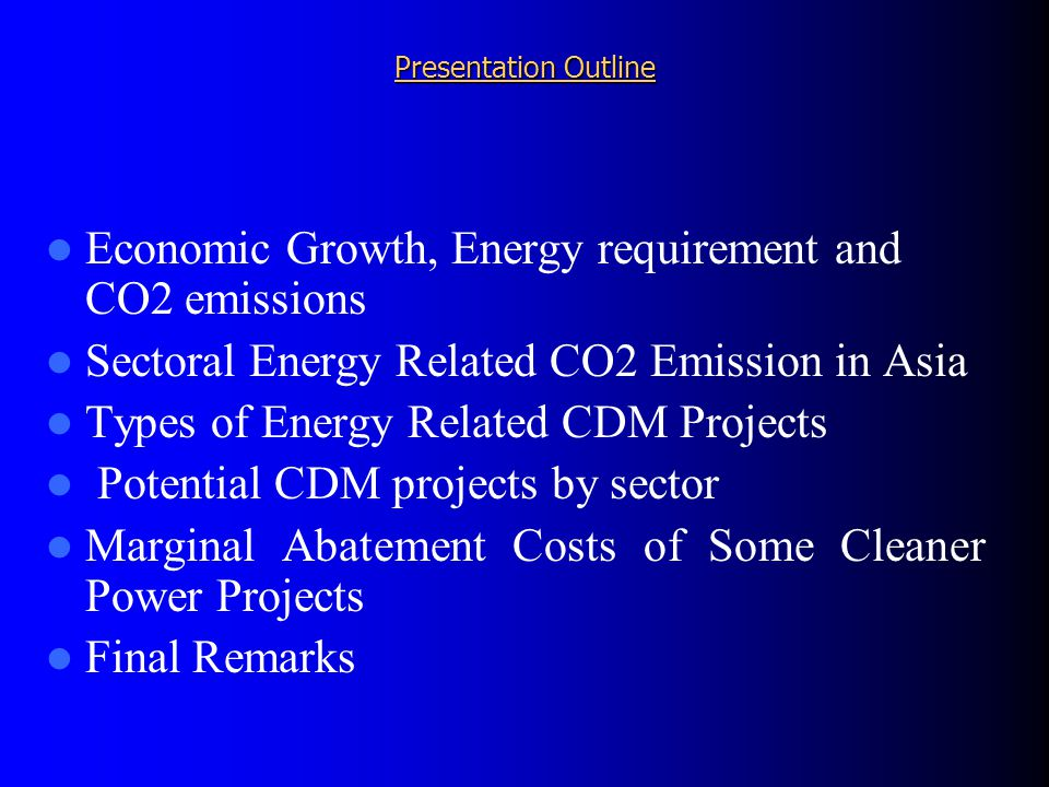 CDM projects through regional energy trade/development in South Asia Hydropower development (e.g.
