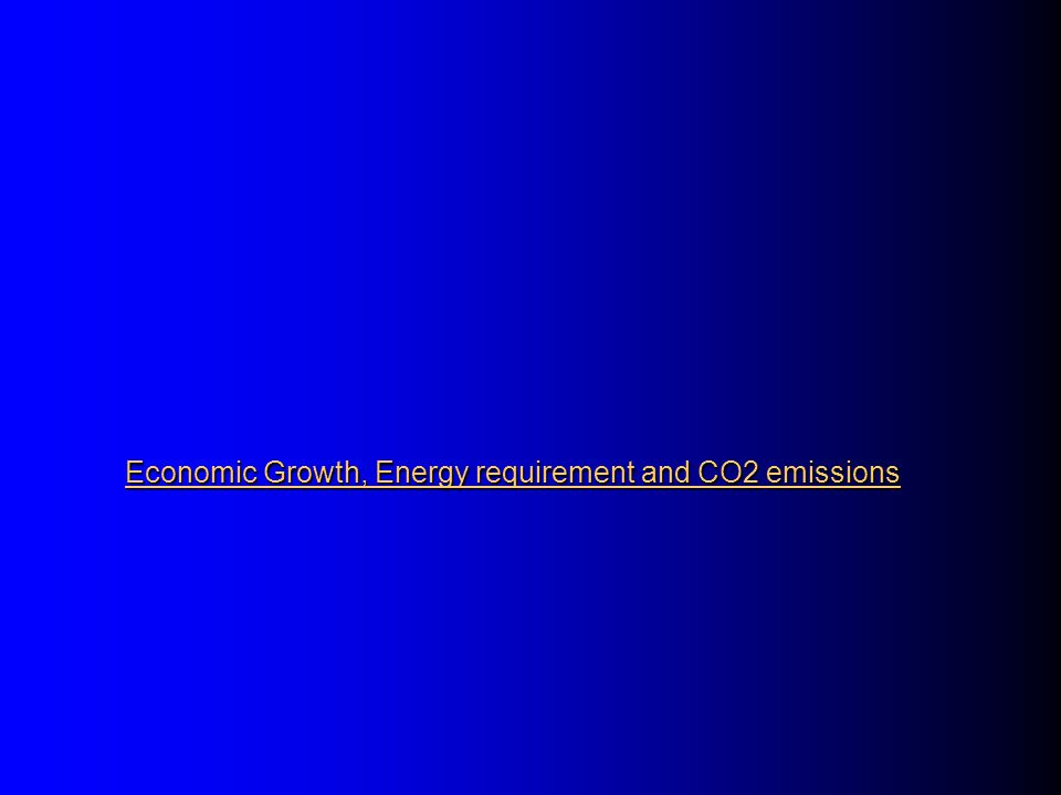 CO 2 Emissions, Total Primary Energy Supply and GDP in OECD and Developing Asia during1990 -1999 Source: IEA 2001 OECD Developing Asia