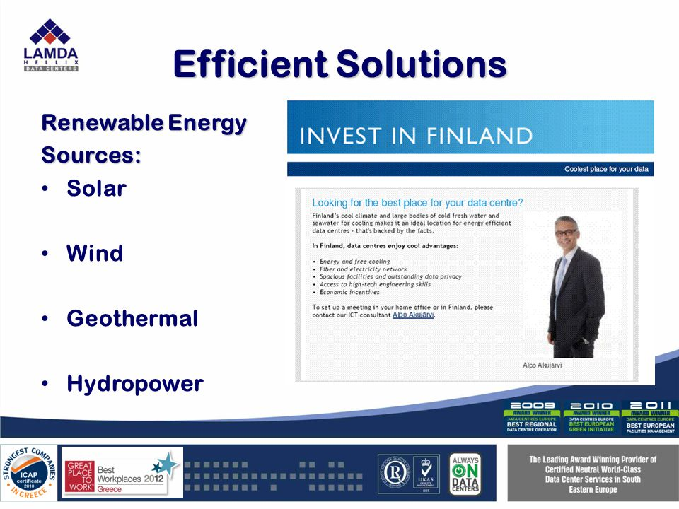 Efficient Solutions Renewable Energy Sources: Solar Wind Geothermal Hydropower