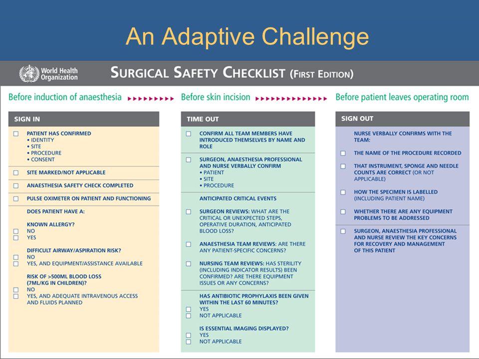 An Adaptive Challenge