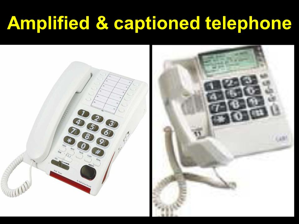 Amplified & captioned telephone