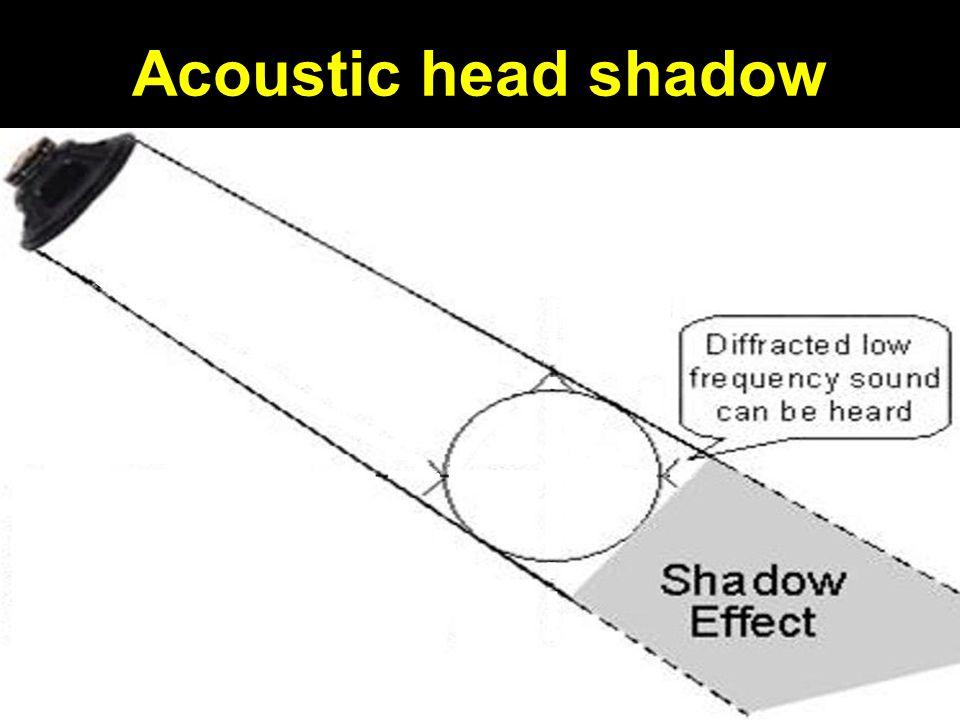 Acoustic head shadow