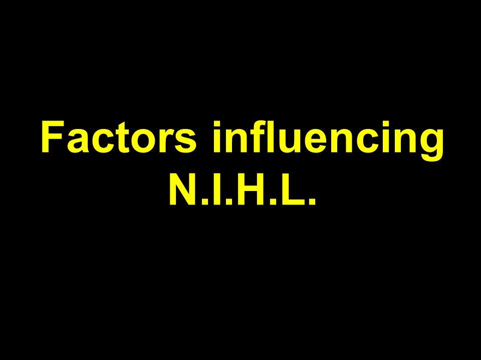 Factors influencing N.I.H.L.