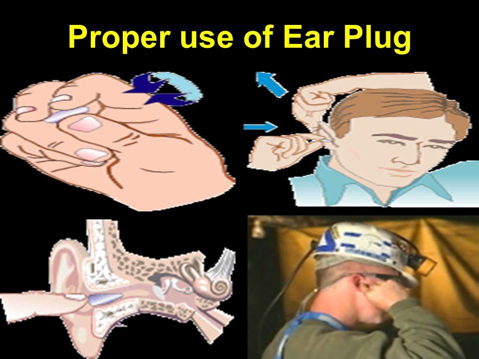 Proper use of Ear Plug