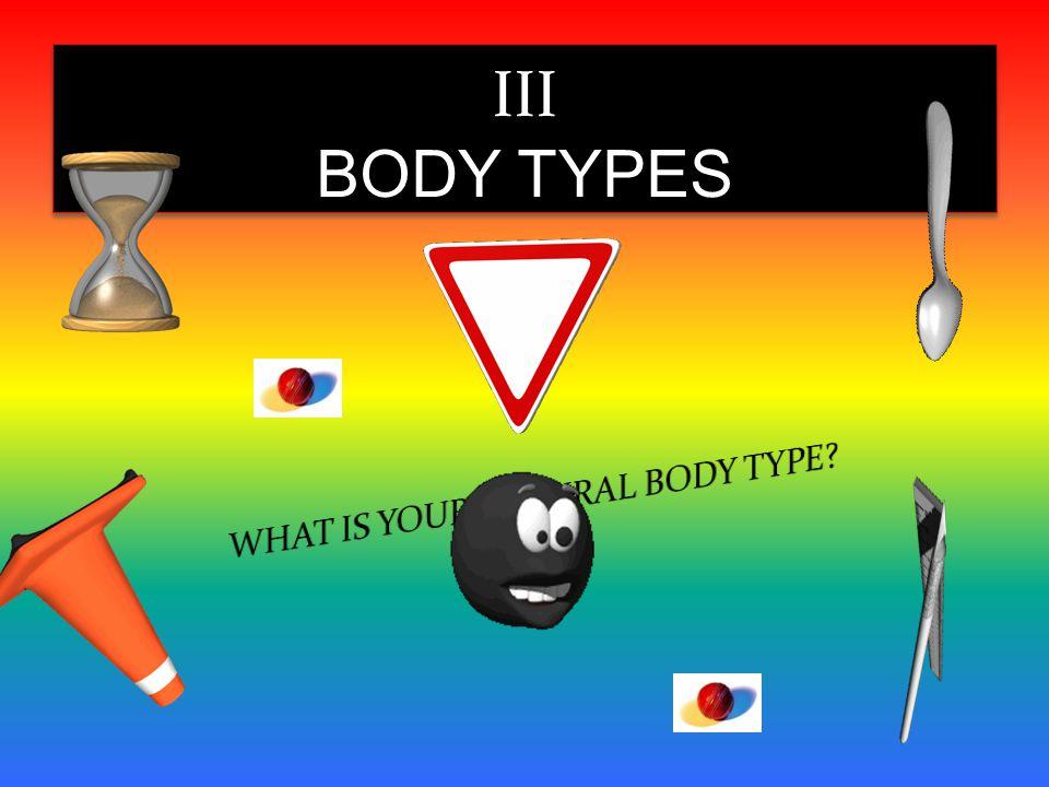 III BODY TYPES