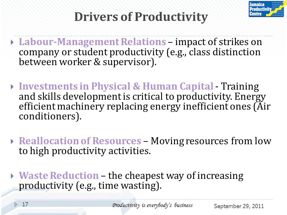 Labour-Management Relations – impact of strikes on company or student productivity (e.g., class distinction between worker & supervisor). Investments