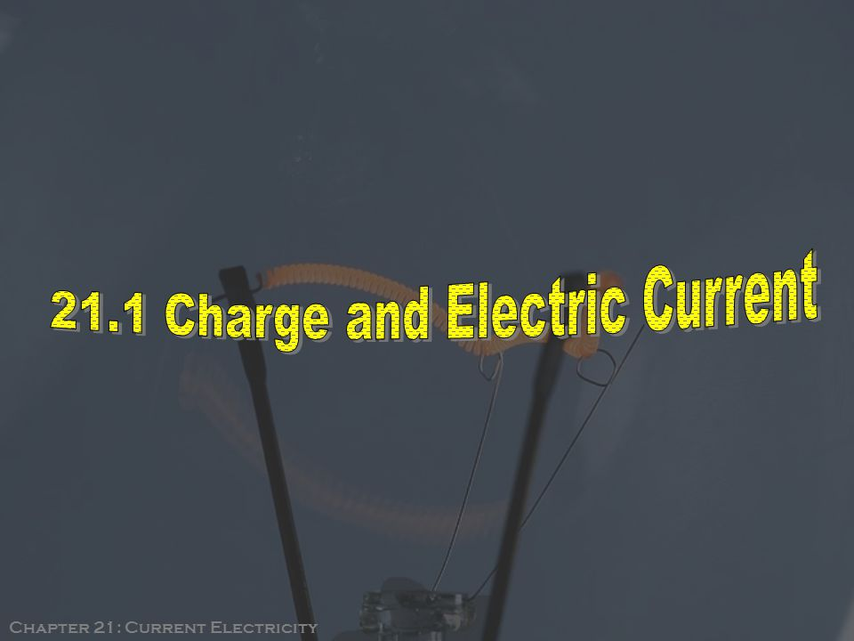 Chapter 21: Current Electricity
