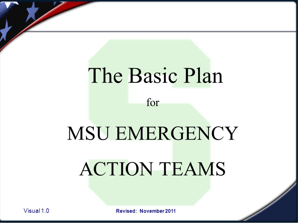 Visual 1.30 Revised: November 2011 The role of an Emergency Action Team Leader during a Severe Weather Sheltering situation 1.