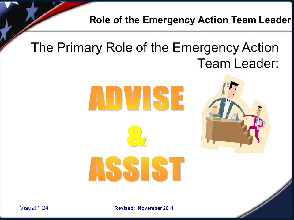 Visual 1.23 Revised: November 2011 Team members should be aware of additional emergency response enhancements or special considerations for their buil