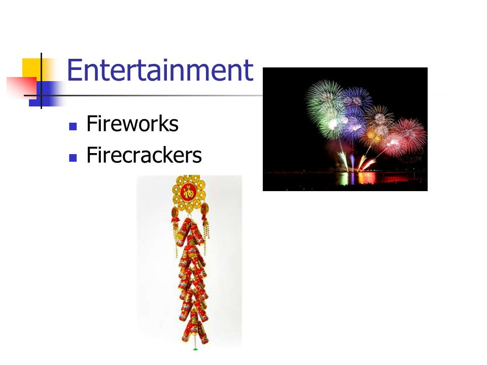 Entertainment Fireworks Firecrackers