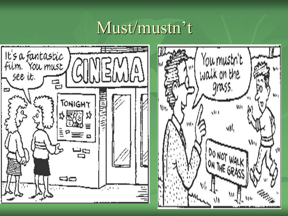 Must/mustnt