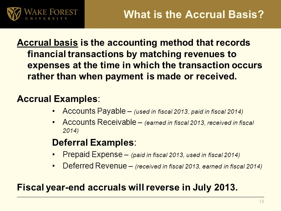 What is the Accrual Basis? Accrual basis is the accounting method that records financial transactions by matching revenues to expenses at the time in