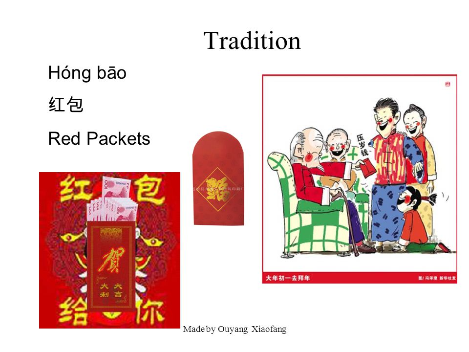 Made by Ouyang Xiaofang Tradition Hóng bāo Red Packets