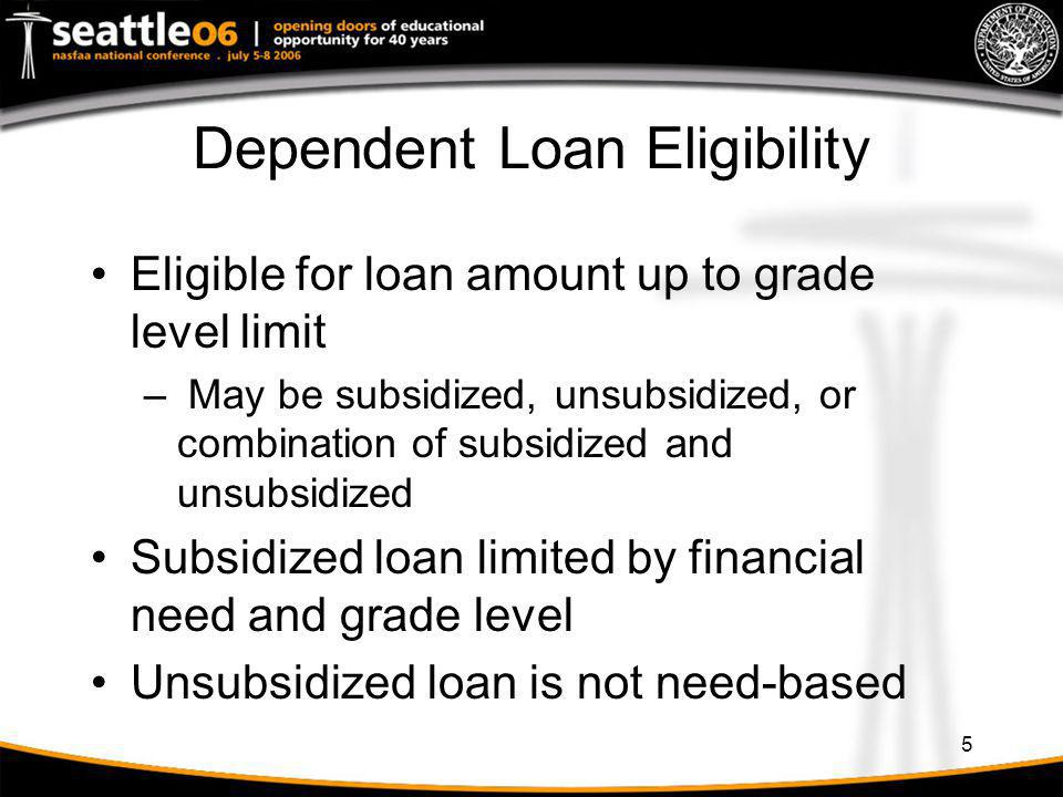 16 Regain Eligibility at Beginning of SAY Example 1 (Summer Trailer) First year student attends Fall & Spring year 1 – No loan in Fall, $2,625 loan in Spring – No summer attendance Fall year 2 begins new SAY – Student regains eligibility for new loan at appropriate grade level.