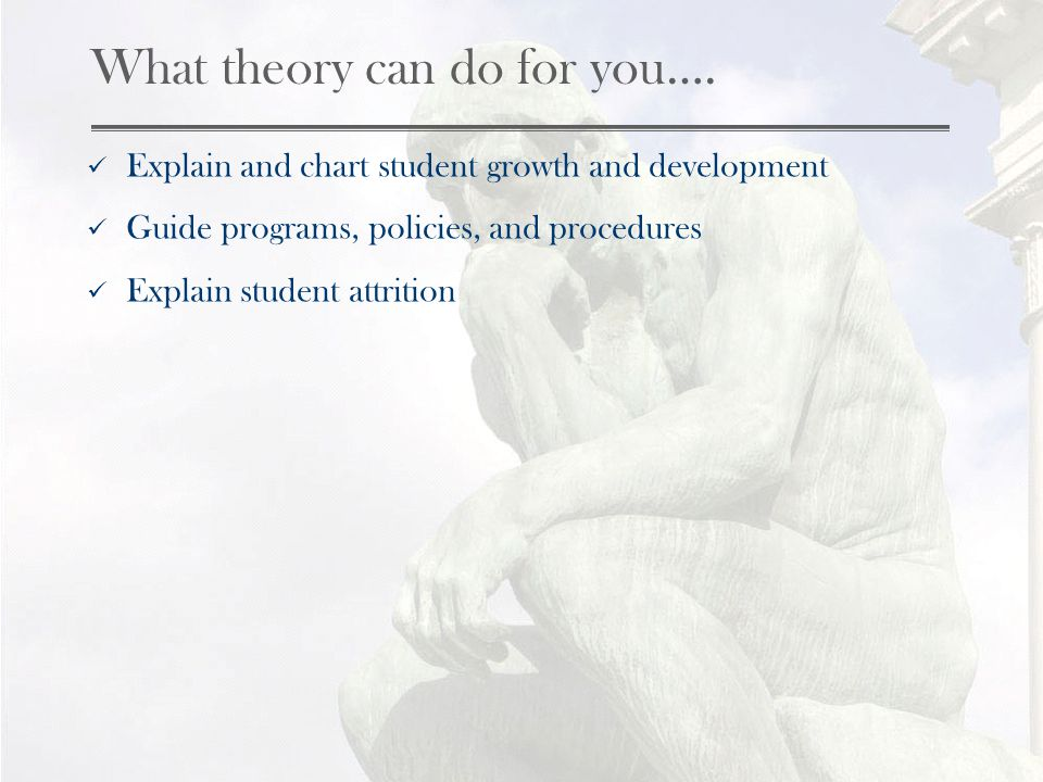 What theory can do for you….