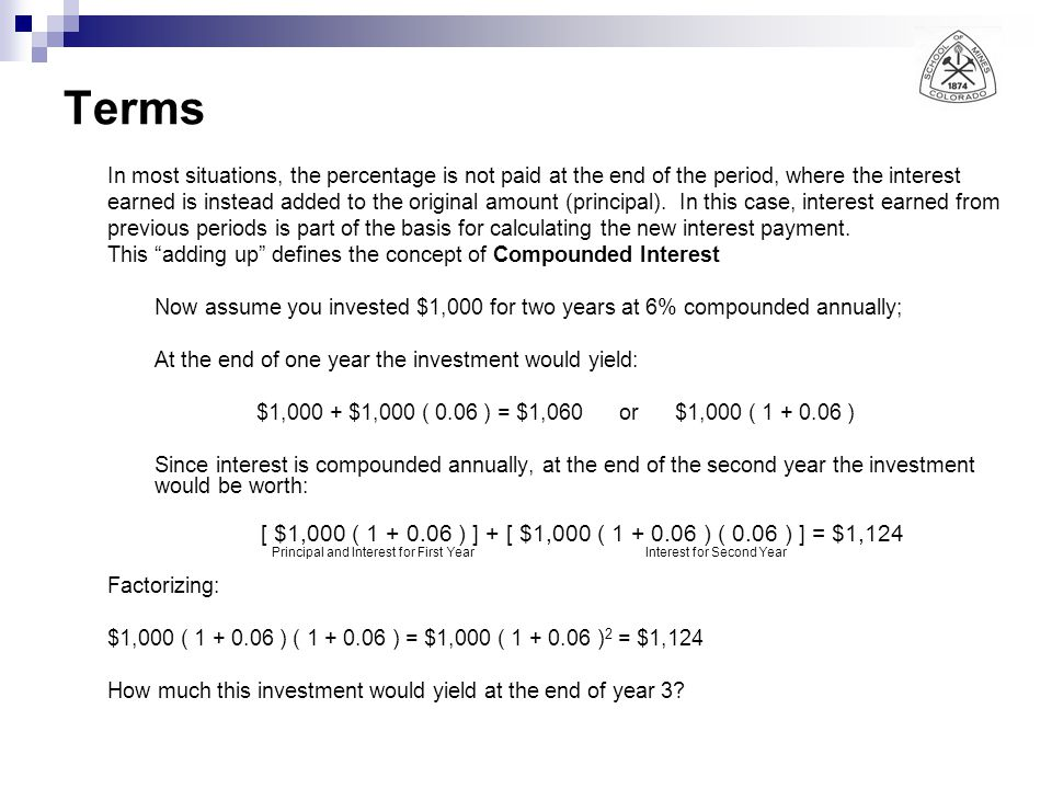 Present Worth of an Uniform Series Sometimes it is required to estimate the present value (P) of a series of equal payments (A) during (n) periods considering an interest rate (i) From Eq.