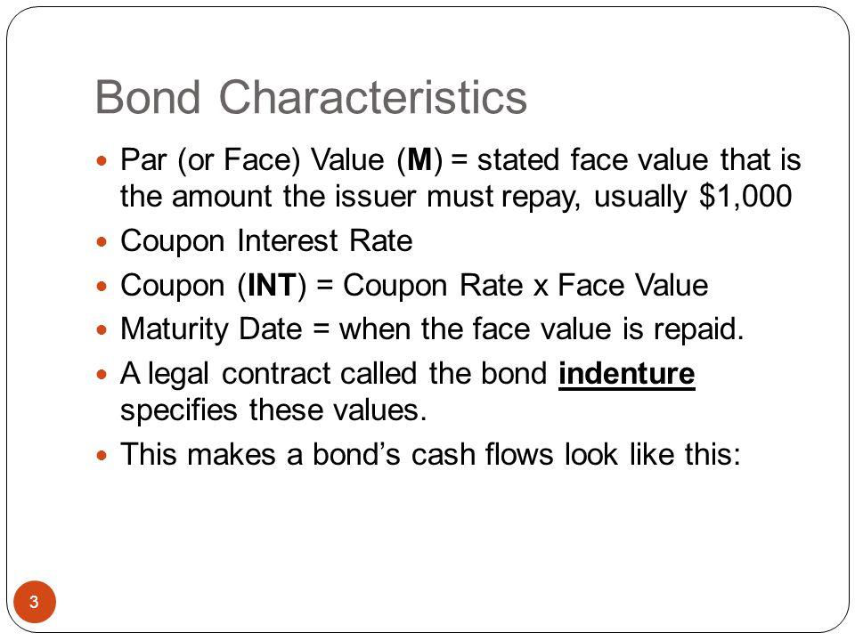 Chapter 7 Topic Overview 2 u Bond Characteristics u Annual and Semi-Annual Bond Valuation u Reading Bond Quotes u Finding Returns on Bonds u Bond Risk