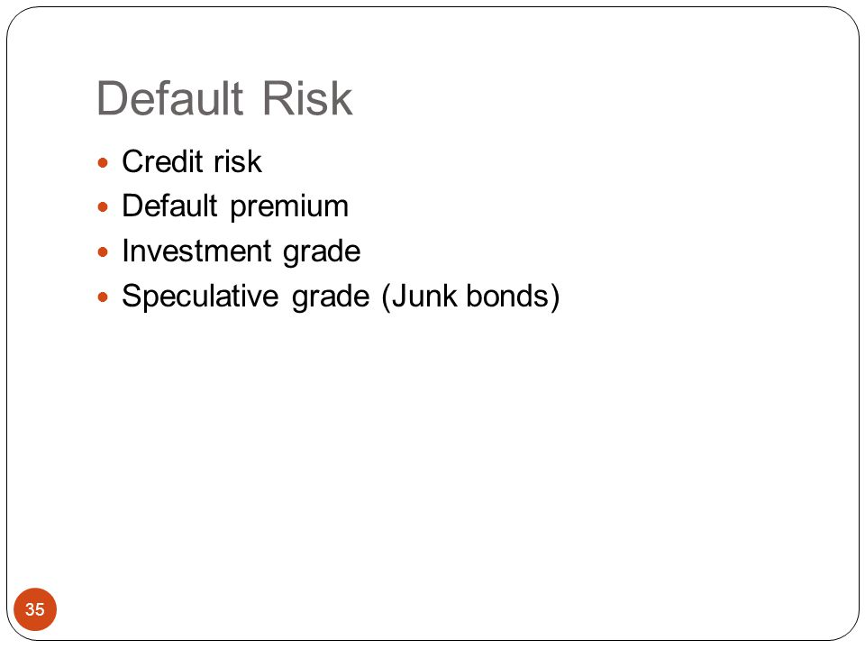 Conclusions about interest rate and reinvestment rate risk Short-term AND/OR High coupon bonds Long-term AND/OR Low coupon bonds Interest rate risk Lo
