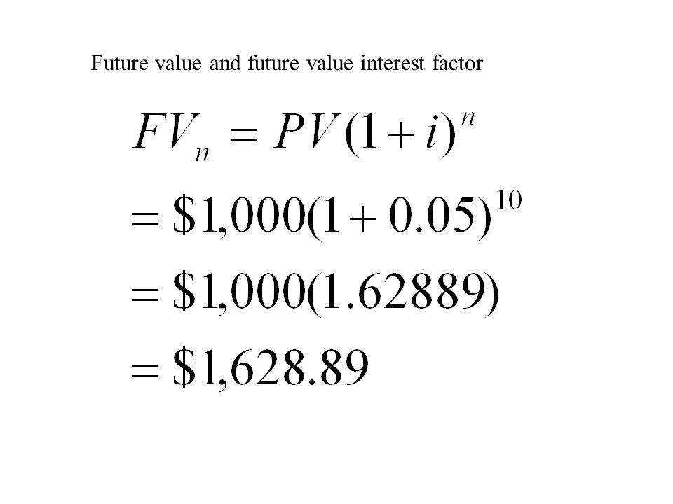Future value and future value interest factor