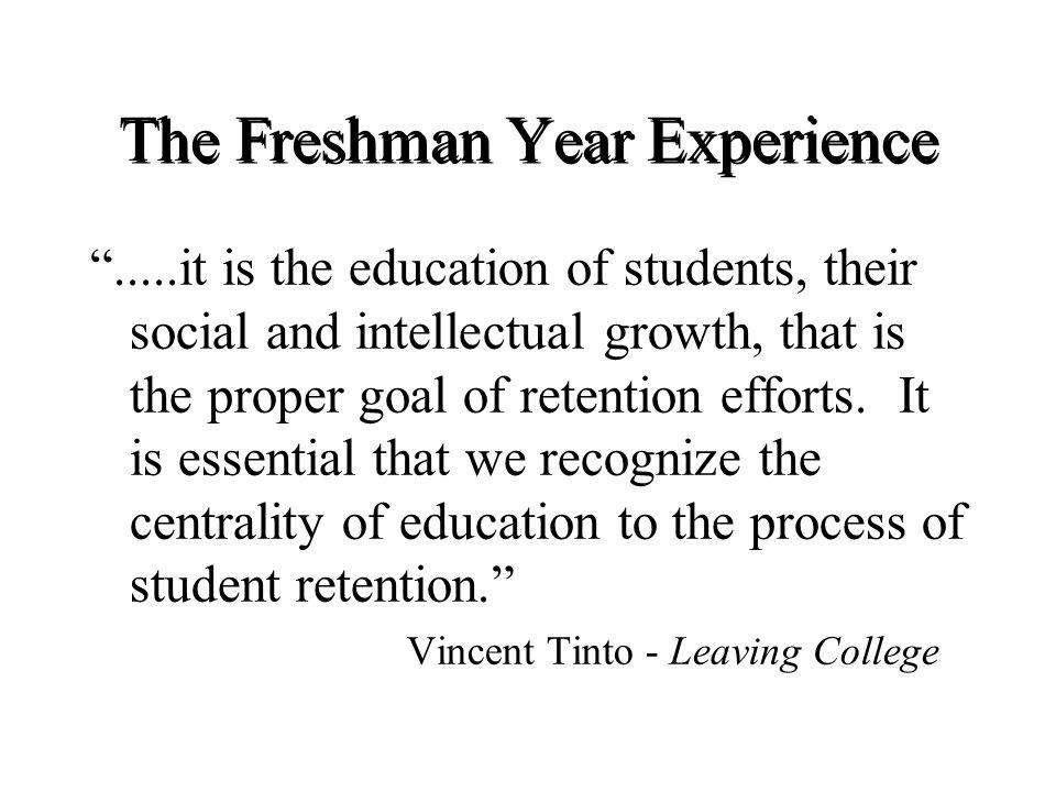 The Freshman Year Experience Freshman Seminar II Topics: Personal and Leadership Development
