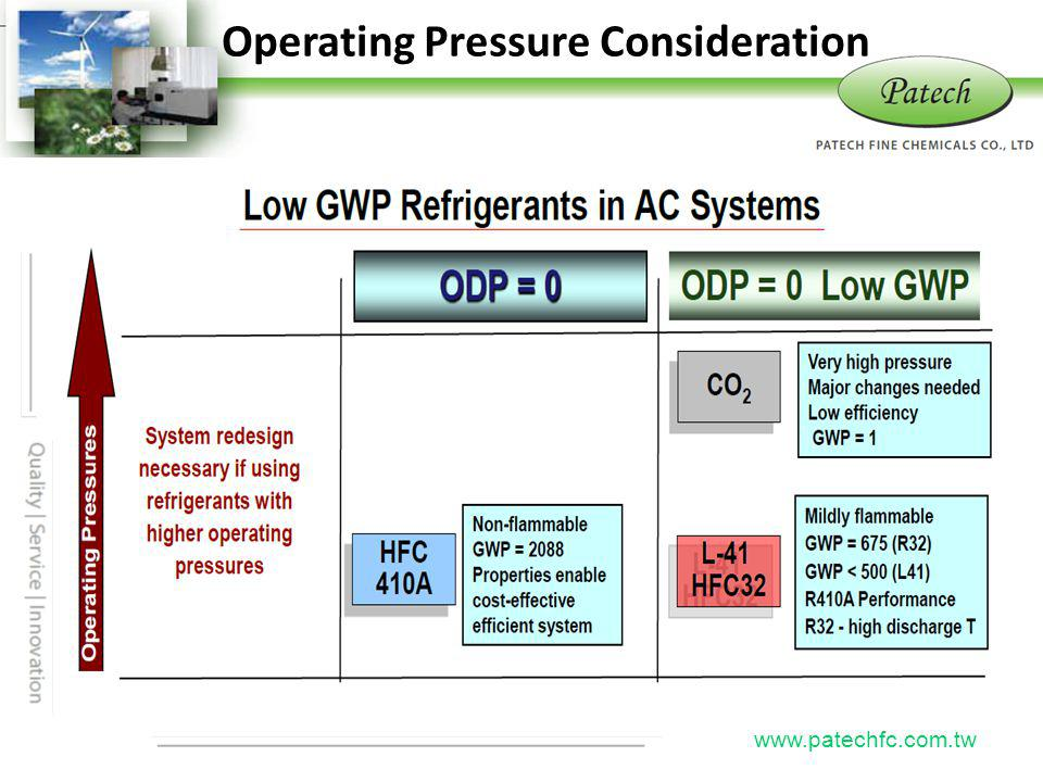 P atech www.patechfc.com.tw Operating Pressure Consideration