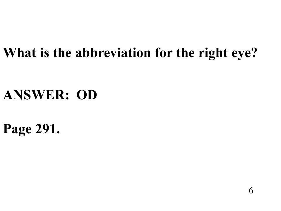 ANSWER: OD Page 291. 6