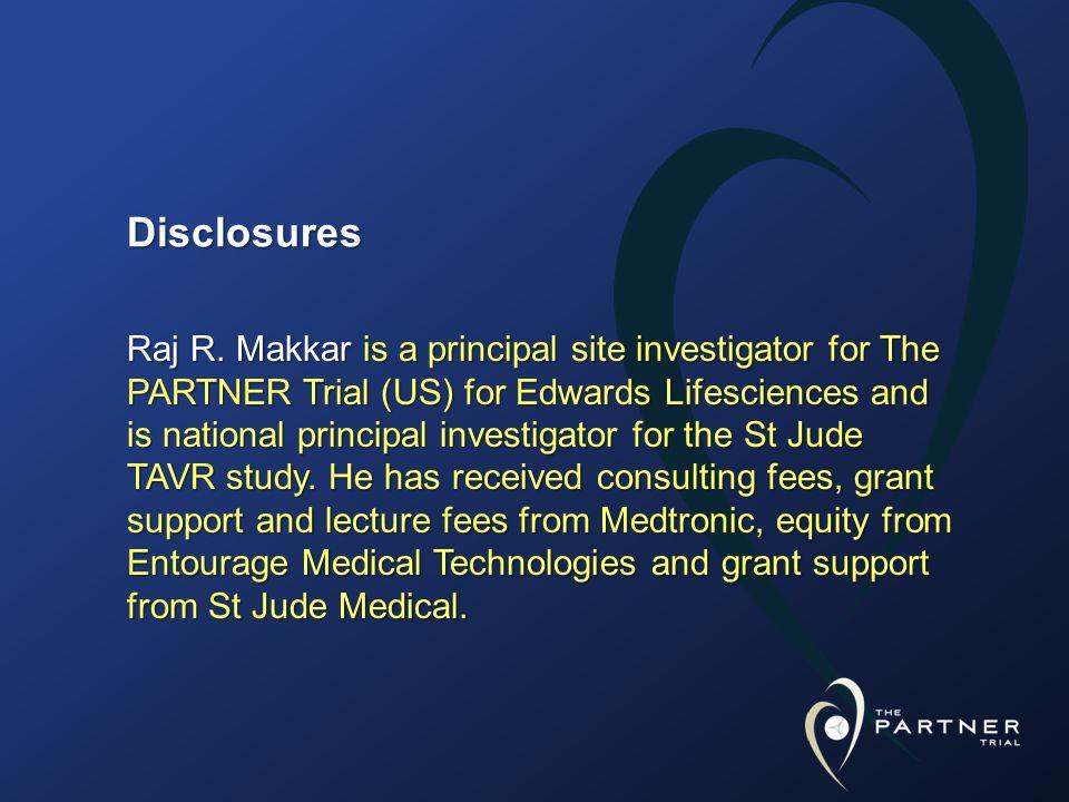 Disclosures Raj R.