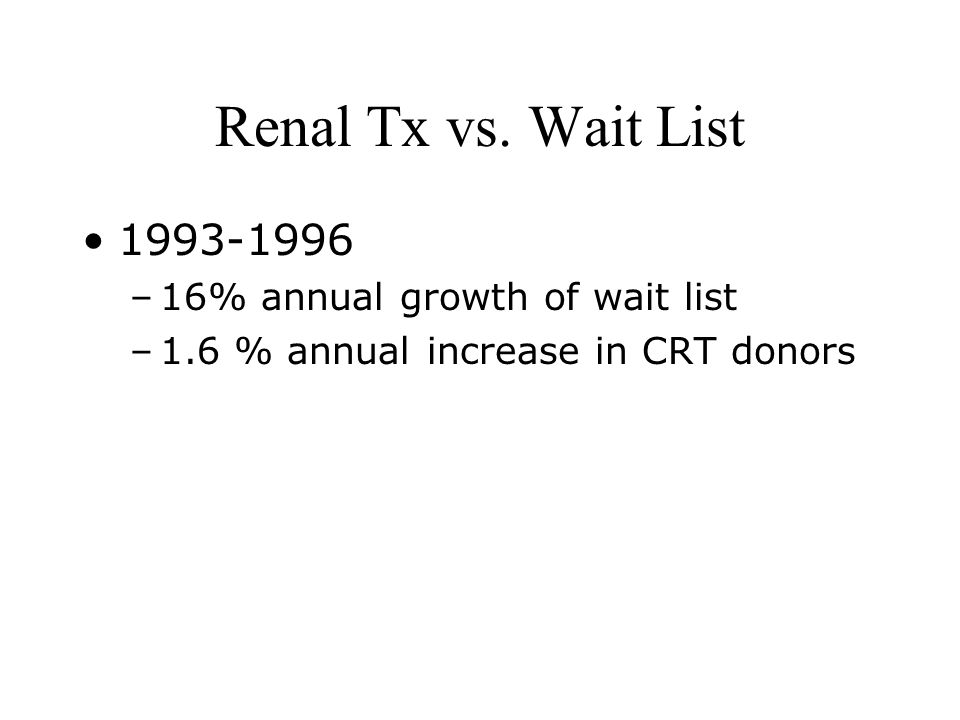 Renal Tx vs.