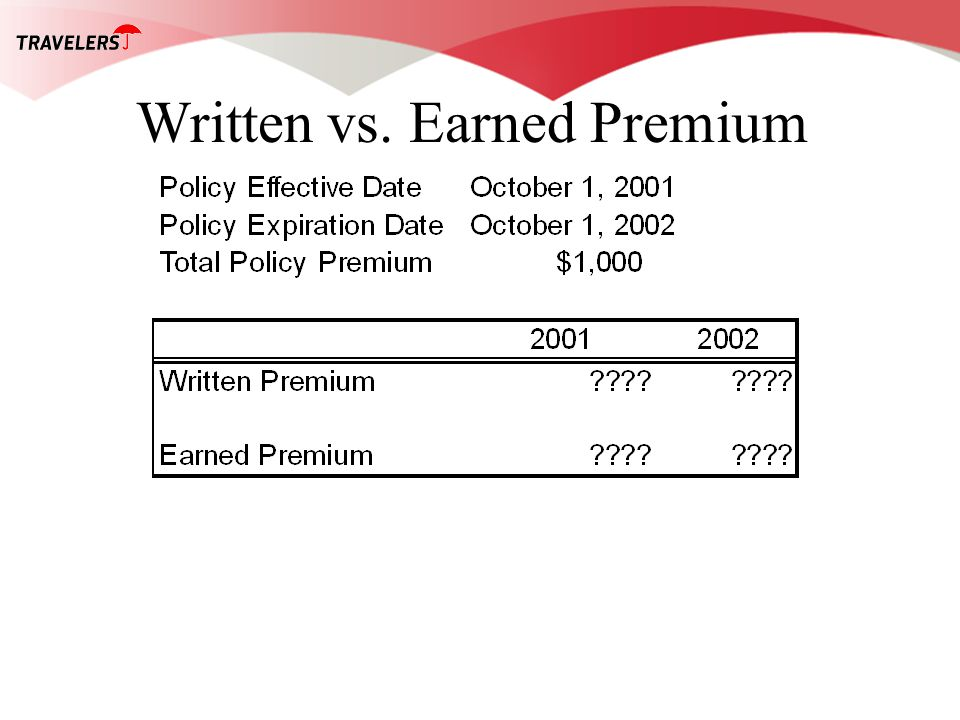 Written vs. Earned Premium