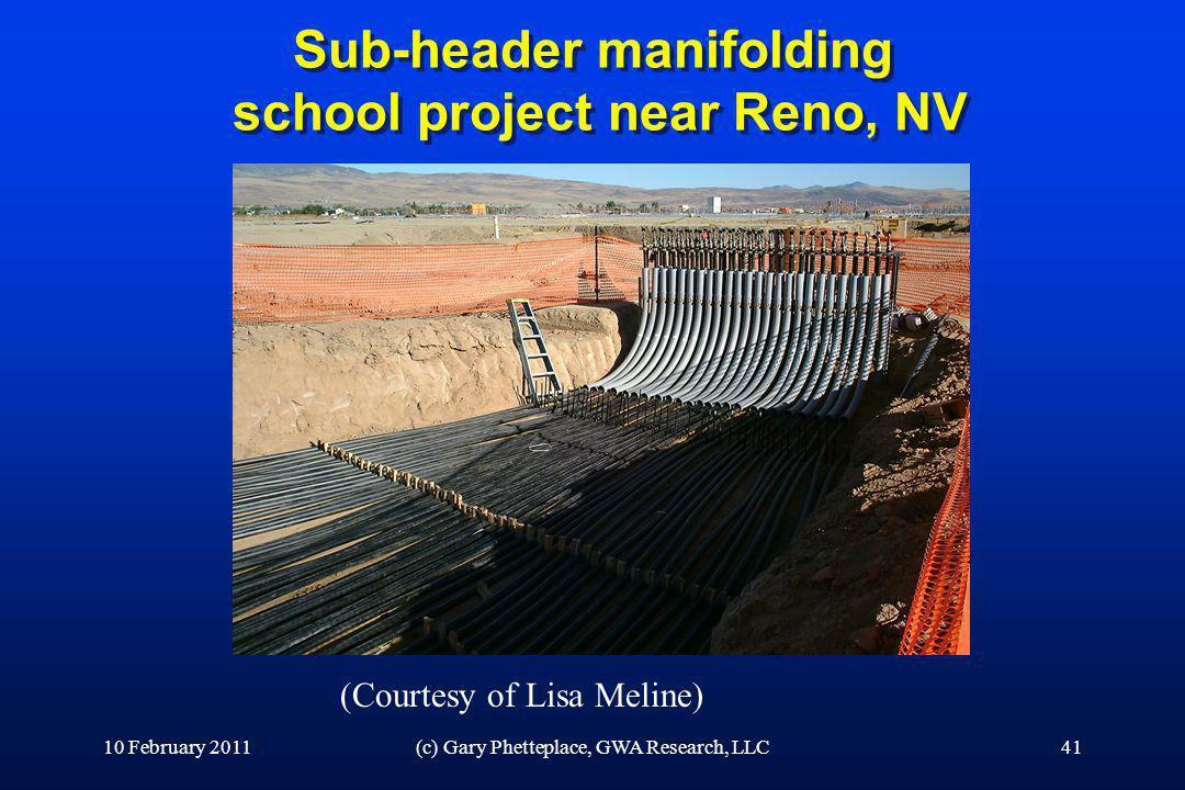 Sub-header manifolding school project near Reno, NV 10 February 2011(c) Gary Phetteplace, GWA Research, LLC41 (Courtesy of Lisa Meline)
