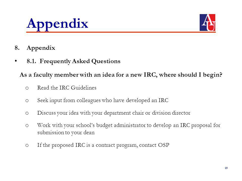 Appendix 8.Appendix 8.1.