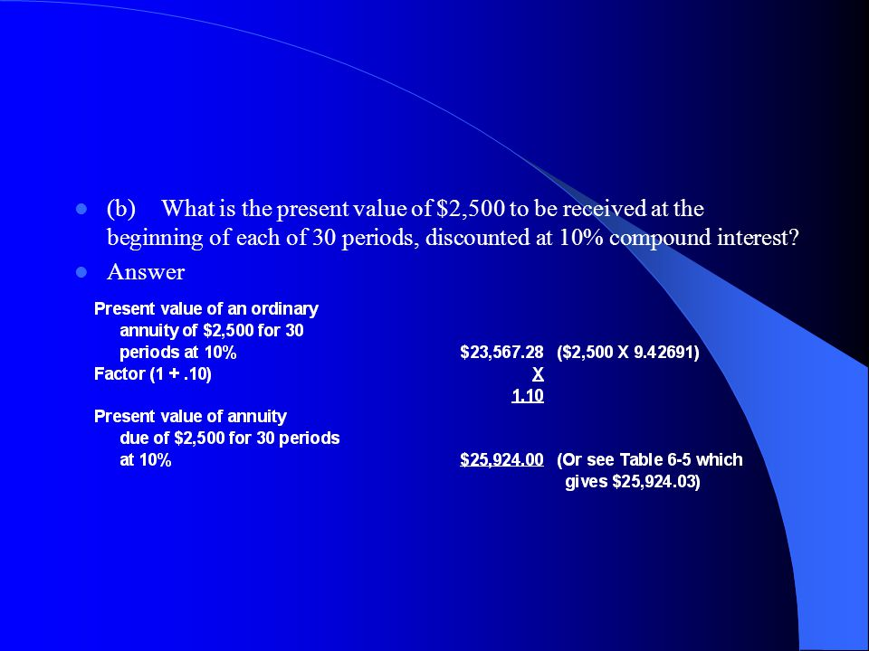 (c)What is the future value of 15 deposits of $2,000 each made at the beginning of each period and compounded at 10%.