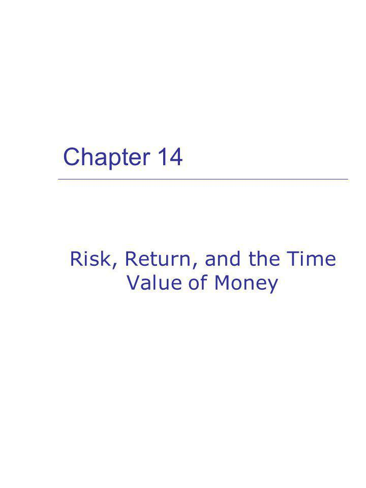Chapter 14 Risk, Return, and the Time Value of Money