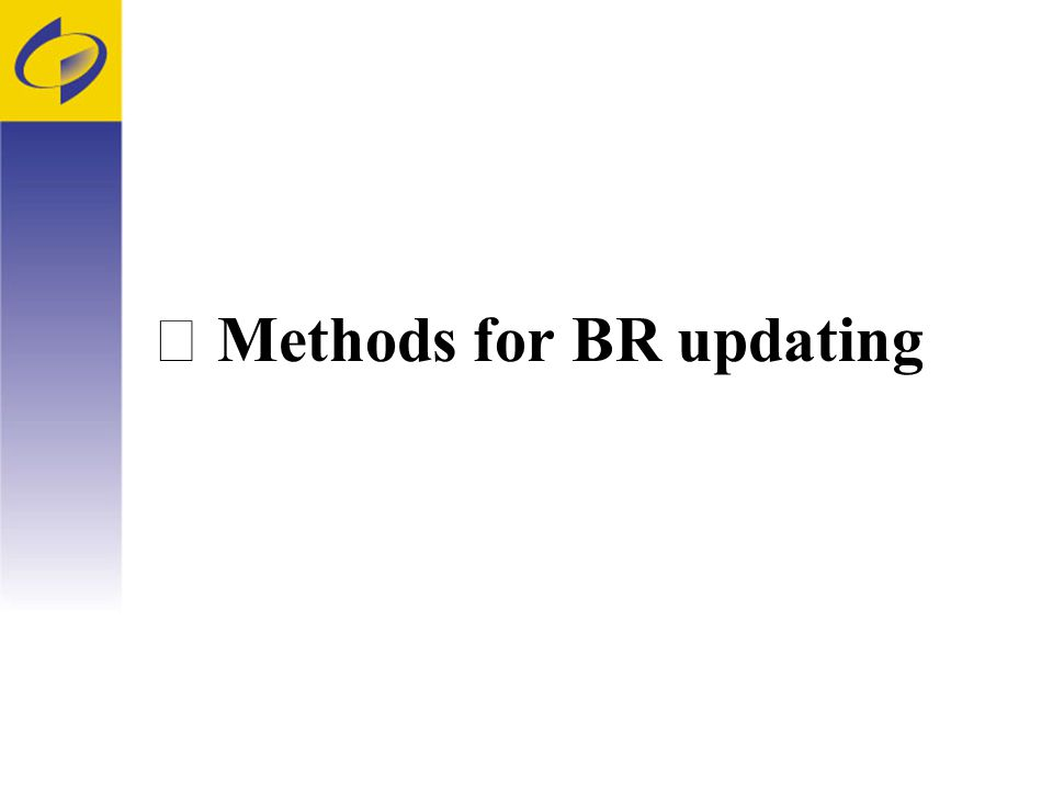 Methods for BR updating