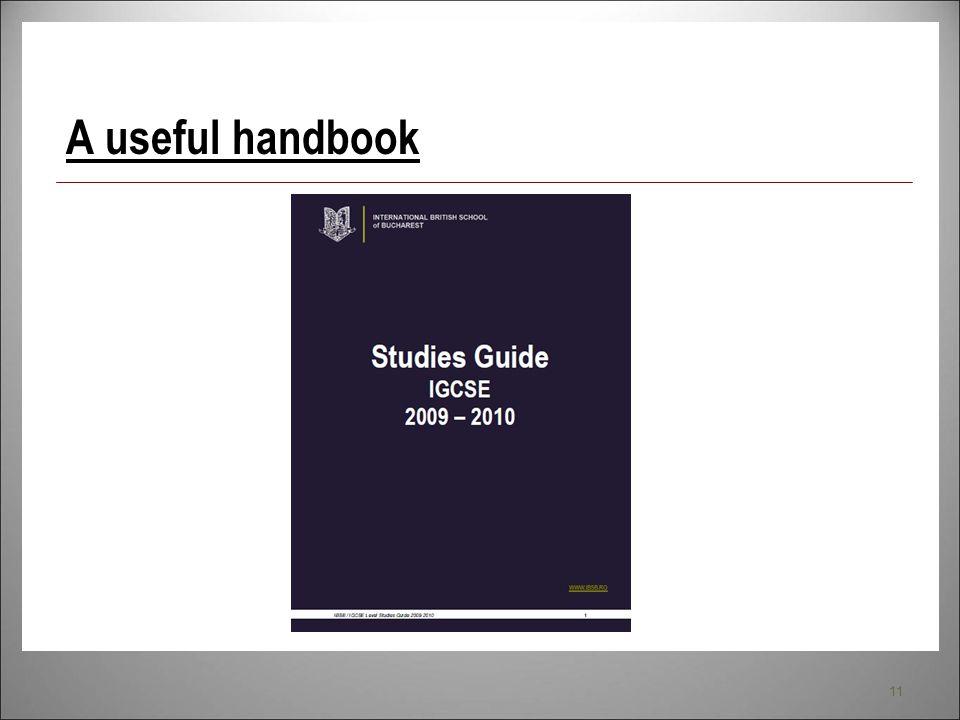 11 A useful handbook