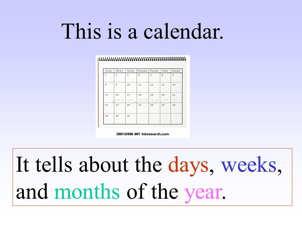 How many months are there in a year? ? There are ….. months in a year. 12
