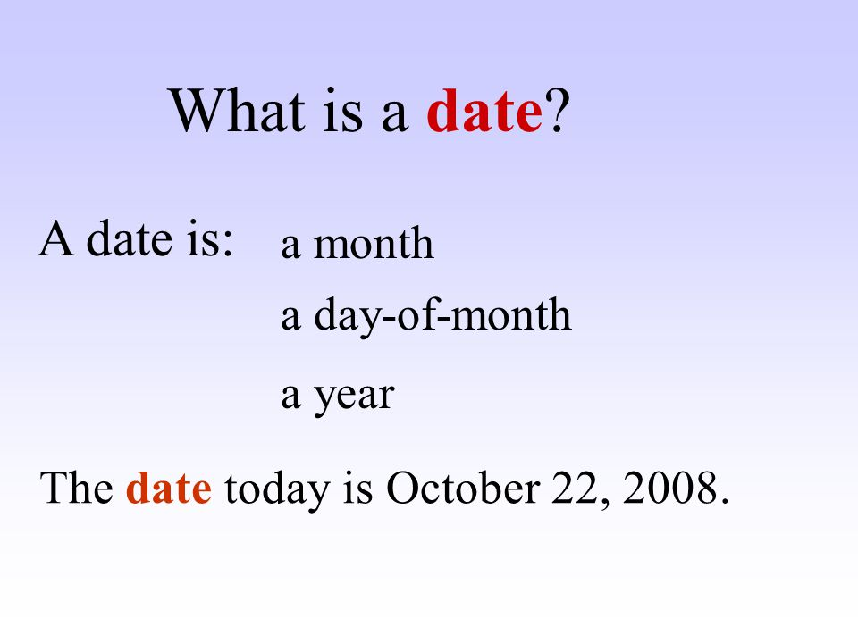 ……. comes after December. What month comes after December? ? January