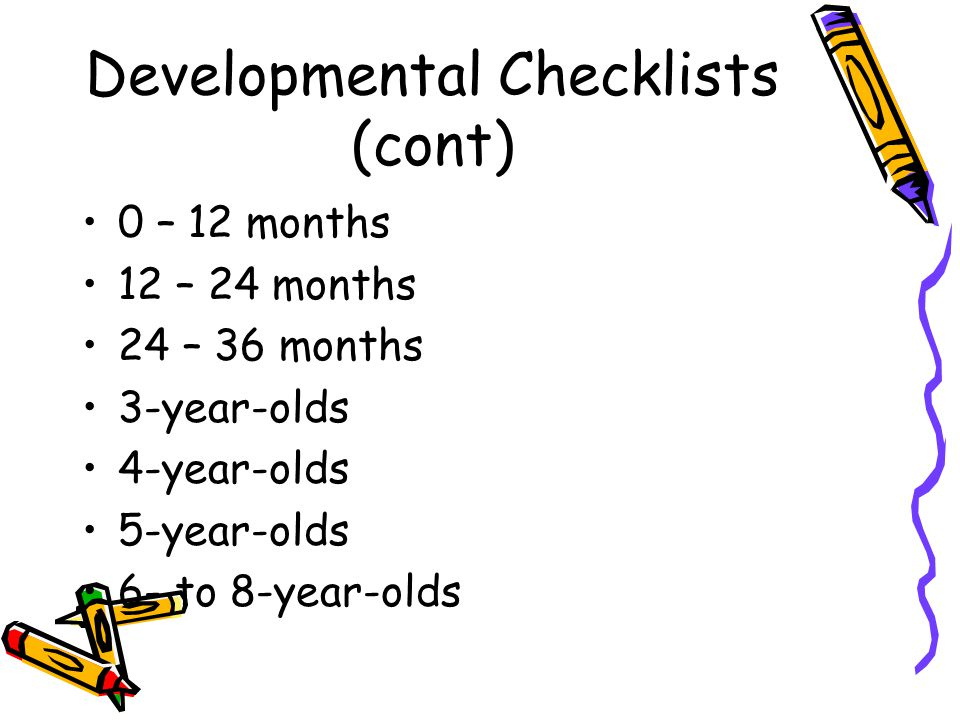 Developmental Checklists Six Simple Ways to Assess Young Children Sue Y.