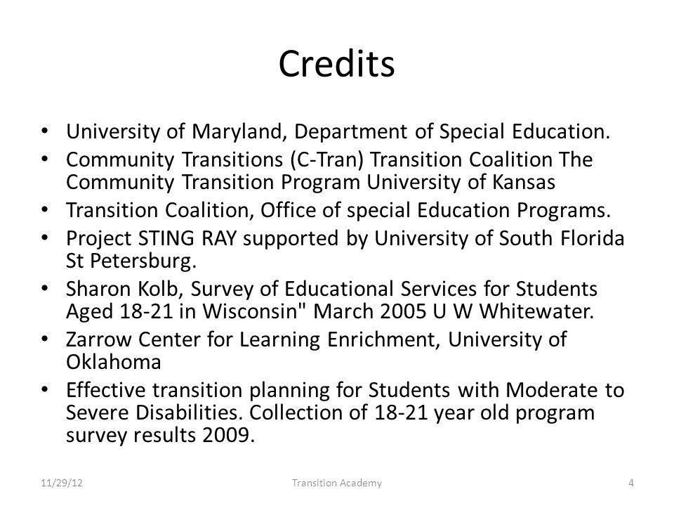 Objectives 11/29/12Transition Academy25