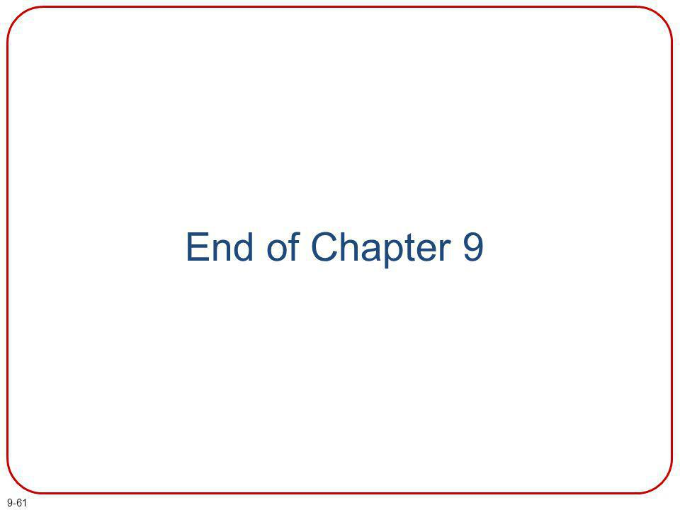 9-61 End of Chapter 9