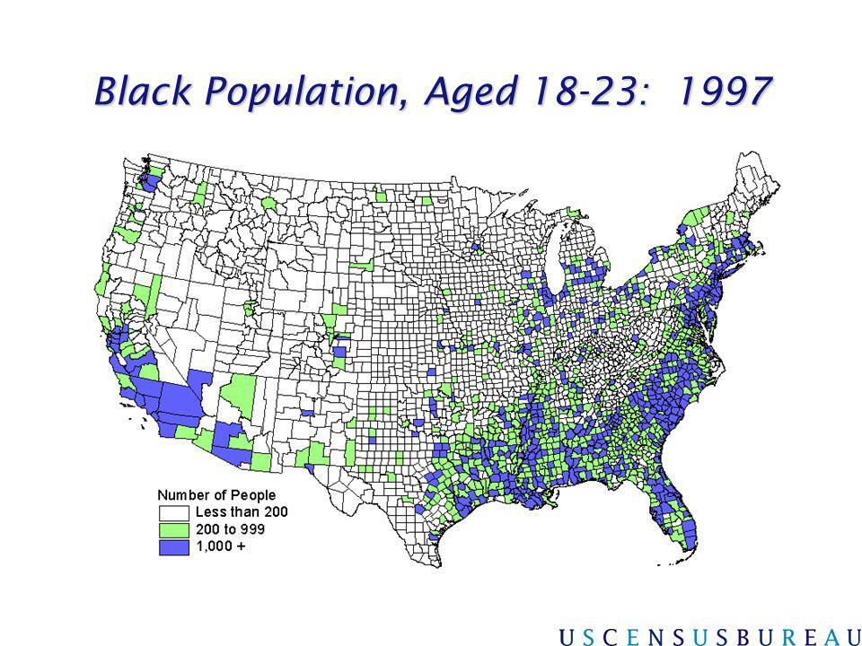 Black Population, Aged 18-23: 1997