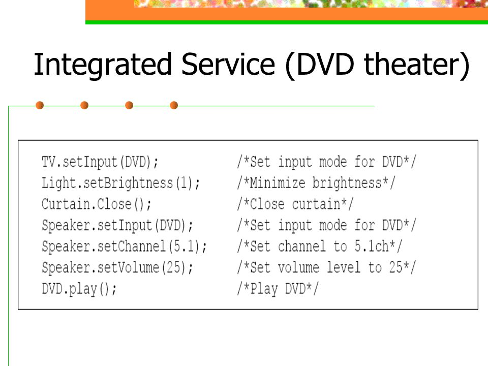 Integrated Service (DVD theater)