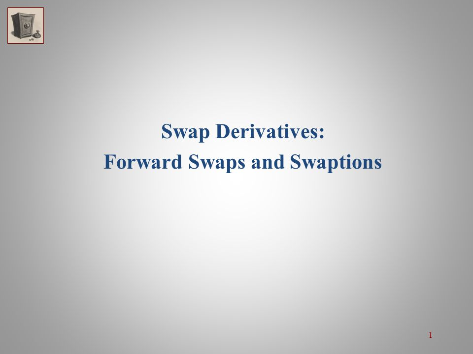 22 Swaptions The swaption can be either a receiver swaption or a payer swaption: A receiver swaption gives the holder the right to receive a specific fixed rate and pay the floating rate The right to take a floating payers position A payer swaption gives the holder the right to pay a specific fixed rate and receive the floating rate The right to take a fixed payers position