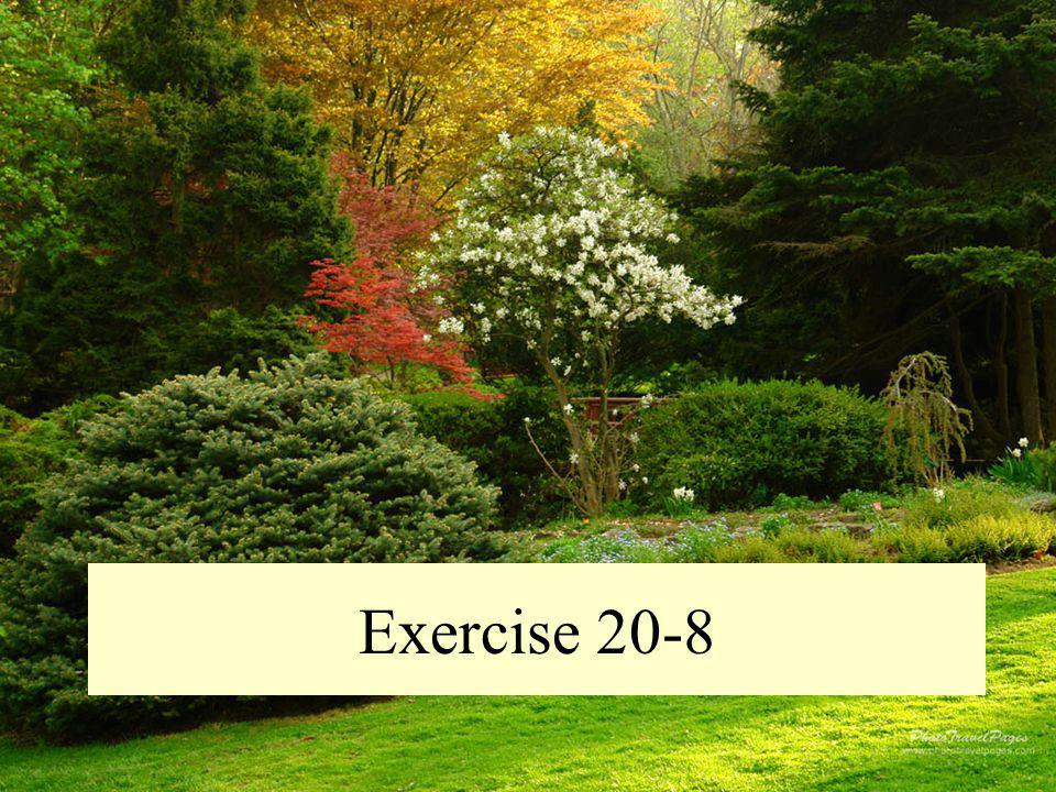 Exercise 20-8