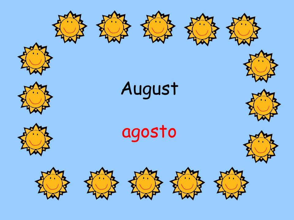 August agosto